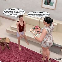 Naughty sonny lets his mother test his sex skills - all on HQ 3D pictures!